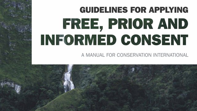 Guidelines for applying for Free, Prior and Informed Consent